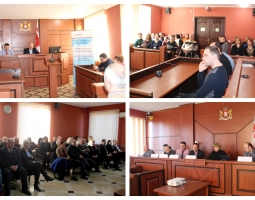 Participants in the October 2018 Study Tour Share their Experience with Stakeholders in Zestaponi and Zugdidi (ka)