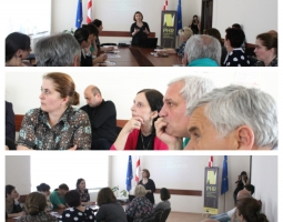 Training participants listening to PHR lawyer Ana Tavxelidze