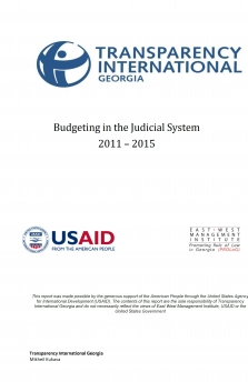 Budgeting in the Judicial System 2011 – 2015