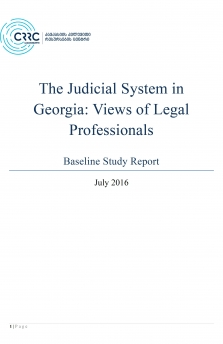 The Judicial System in Georgia: Views of Legal Professionals 2016