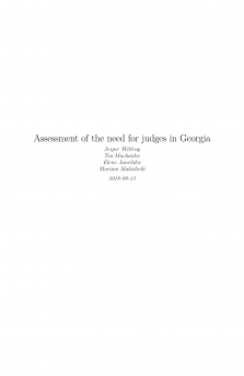 Assessment of the need for judges in Georgia