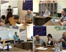 Participants are talking on USAD/PROLoG funded new grant and the actions to be taken for the implementation.