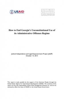 How to End Georgia's Unconstitutional Use of its Administrative Offenses Regime