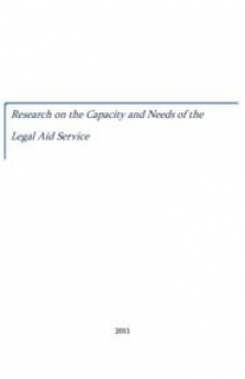Capacity and needs of the legal aid