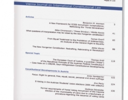 Vienna Journal on International Constitutional Law Publishes EWMI/PROLoG-Supported Article (ka)