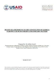 Review of Amendments to the Constitution of Georgia