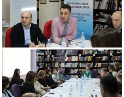 Participants of USAID/PROLoG's July Study Tour Share their Experience with Colleagues at the Tbilisi Court of Appeals