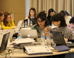 Winter School participants working on a group assignment