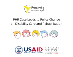 PHR Case Leads to Policy Change on Disability Care and Rehabilitation