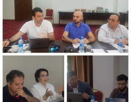 Participants of the workshop discussing possible amendments to the Law on Advocates