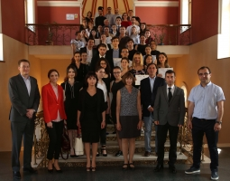 Participating teams, judges of the competition and honored guests